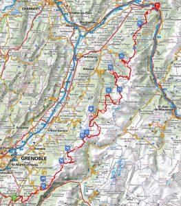 carte du tracé 144
